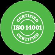 Wir sind ISO-14001-zertifiziert.