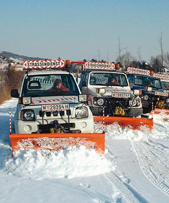 Zu unserem Winterdienst gehört die Schneeräumung.